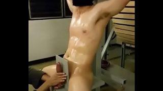 handjob for Asian slave